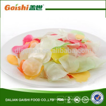 China multi color snack food thin slice prawn crackers