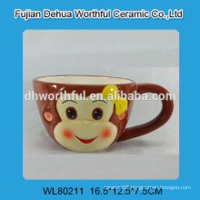 Special design ceramic milk mug in monkey shape