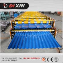 Láminas de láminas onduladas de doble capa que forman la máquina