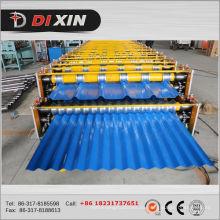 Rollo de hojas corrugadas de techo de doble capa que forma la máquina