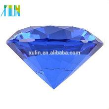 Nueva gran cristal de 100 mm de diamante en forma de pisapapeles de cristal joya Display regalo caliente