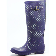 Dark Full Purple Rain Boots For Women
