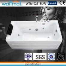 Cool Rectangulaire Belle Baie de bain acrylique en acrylique de bain de Whirlpool (WTM-02318L / R)