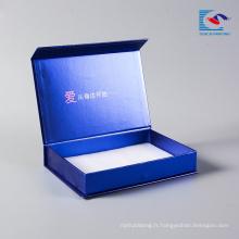 Trousse de maquillage d'emballage fait main personnalisé de luxe d'impression de masque de masque pour l'emballage cosmétique