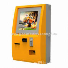 Kiosk, Coin Acceptor Payment Terminal with 17-inch Touch Monitor and Coin Dispenser Function
