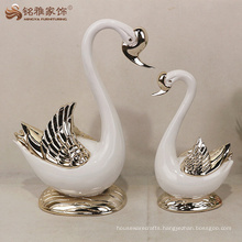 Resin swan statue wedding decoration for favors