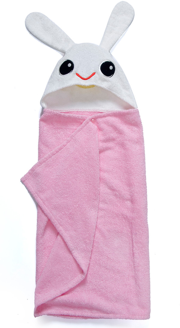 Pink Bunny Beach Towels