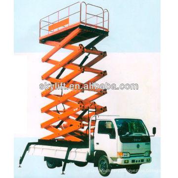 Hydraulic truck mounted aerial work platform