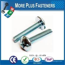 Hecho en Taiwán Metric Coarse Phillips Flange Pan Head Tornillo de la máquina DIN 967