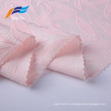 100% полиэстер модная жаккардовая ткань для платьев с вышивкой