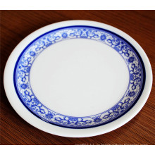 Синий и белый меламина блюдо пластина (КП-022)