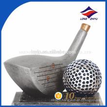 Custom Sport Theme Unique Golf Trophy Embossed Golf Metal Trophy