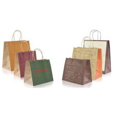 Custom embossing papaer shopping tote bag