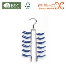 Eisho Melhor venda Customized Navy-Blue PVC Metal Hanger