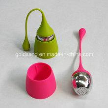 FDA Stainless Steel Tea Ball Water Drop Silicone Tea Bag