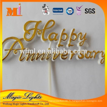 Gâteau en plastique Topper joyeux anniversaire décoration