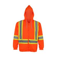 Sudadera con capucha de seguridad reflectante 100% poliéster