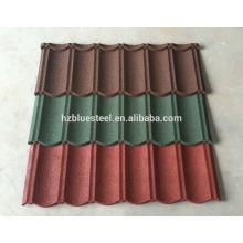 Color de larga vida Color de la piedra de arena Teja de techo Color Galvalume Hoja de techo de acero