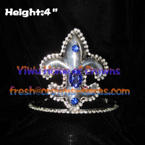 Arrow Shaped With Blue Diamond Pageant Crown