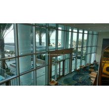 Construction Project Aluminium Hidden Frame Glass Curtain Wall