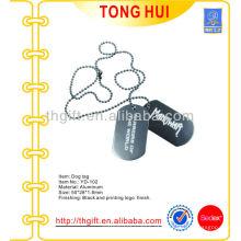 Etiqueta / colar de cão pendurada no níquel com logotipo de impressão