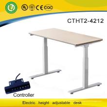 Bureau et maison & école deux moteur électrique Table élévatrice avec plateau