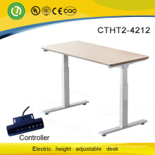 Office & home & school two motor Electrical lifting table frame with table top