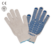 safety work pvc dotted gloves