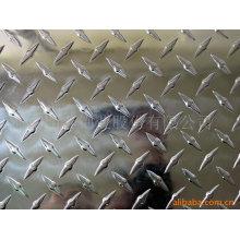 1050,1060,1100,3003, 3005, 3004, 3015, 5052 5754 placa quadriculada em alumínio com diamante, duas barras, três barras, cinco barras