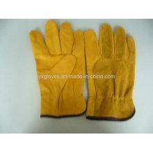 Guante de conductor guante de piel de vaca guante de cuero guante de trabajo guante