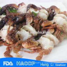 Caranguejo cortado congelado com certificação HACCP