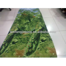100GSM polyester dispersé imprimé drap de lit stock