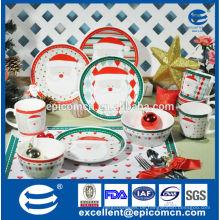 Schöne Karikatur santa Serie Porzellan Teller, Tassen und Schüsseln, Weihnachten Chinaware