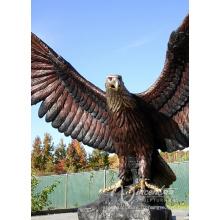 Украшения сада бронзовая анималистическая скульптура, литье гигантская статуя Орла для горячего Сбывания