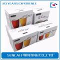 Caja de papel plegable de encargo de la taza de té de SenCai