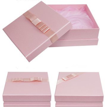 Baby Shower rosa favorece caja de regalo con tapa