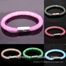 BCR034 Vente en gros 2015 Bracelet en cristal neuf avec bracelets à fermoir magnétique pour femmes Bracelets Stardust