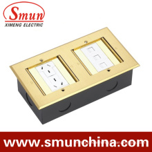 Floor Socket DC-3t/3 Double Duplex Hidden Type Ground Socket