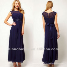 Noble Bateau Sheath Waistband Ankle Length Mother Dress Bridal Dress