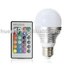 3W светодиодная лампа RGB E27 с дистанционным управлением