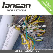 LANSAN Cabo de telefone de alta velocidade de 100 pares com revestimento do PVC Conductor desencapado de 0.5mm APROVAÇÃO do ISO do UL do CE