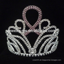 Atacado Novo Design nupcial Crystal Pageant Tiara Kids Rhinestone Crowns