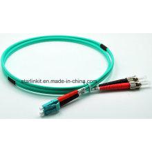 LC para FC Om3 Cabo multimodo de fibra óptica com cabo multimodo
