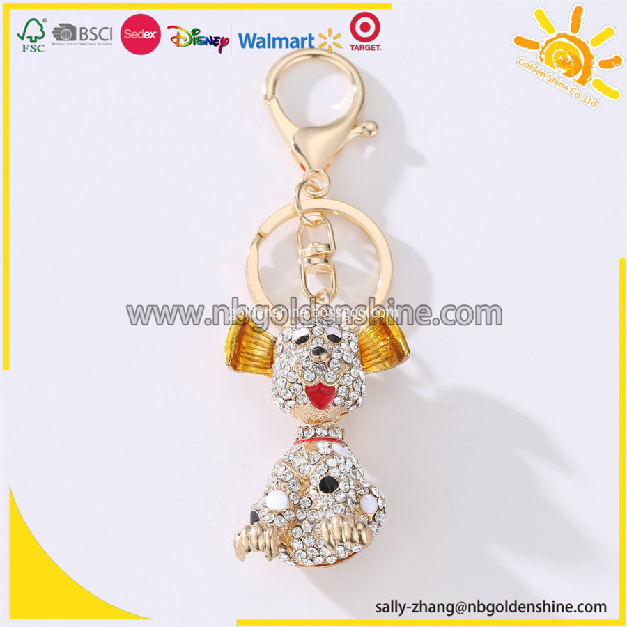 Promotion Diamond Dog 3d Key Chain