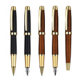 Metal rollerball & fountain pen set