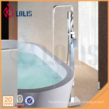 China supplier brass square floor standing shower tap with handheld Shower