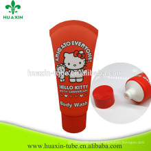 China Manufactory 75ml Body Wash Square Plastic Tube