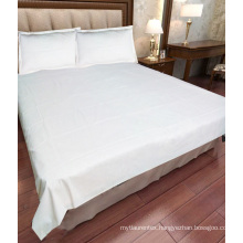 high quality percale hotel cotton bed sheet