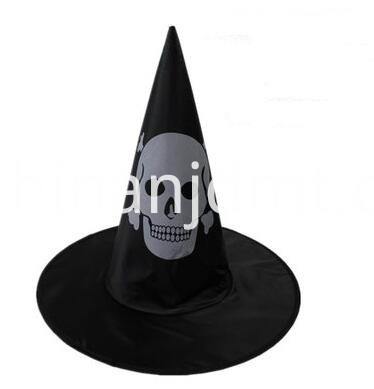 Witch hat with skull print