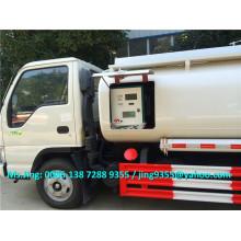 5000L JAC mini reabastecer camión, camión de reabastecimiento móvil, camión dispensador de combustible para la venta